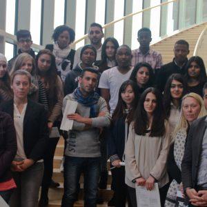 Besuchergruppe des Alice-Salomon-Berufskollegs (Foto: Büro Serdar Yüksel, MdL)